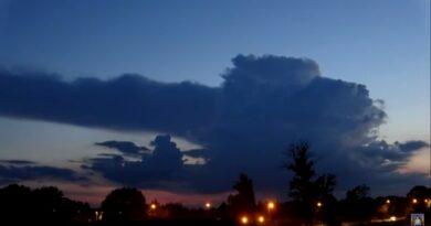 Efektowne przejście chmury burzowej – WIDEO