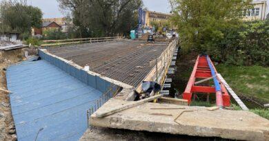 Hrubieszów: Postęp robót przy remoncie mostu na Ludnej – ZDJĘCIA