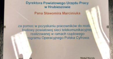 Szybki internet w powiecie hrubieszowskim budują mieszkańcy. HTK dziękuje urzędowi pracy