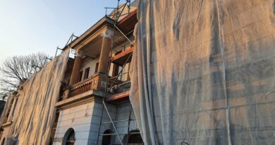 Hrubieszów: Ciągle trwa remont budynku Syndykatu Rolniczego – ZDJĘCIA