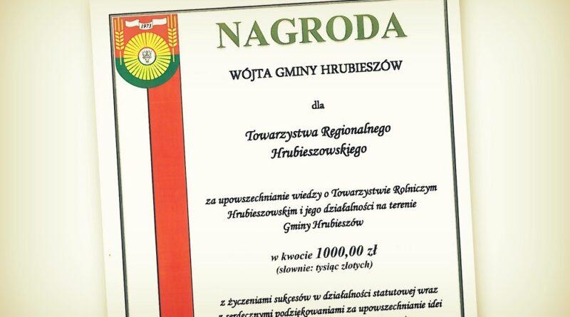 Podziękowania od Towarzystwa Regionalnego Hrubieszowskiego