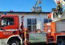 Pożar dachu w tartaku w Gozdowie (ZDJĘCIA)